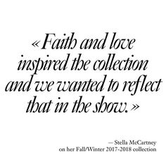 #DesignersQuotes Stella McCartney on her Fall/Winter 2017-2018 collection @stellamccartney #PFW  via VOGUE PARIS MAGAZINE OFFICIAL INSTAGRAM - Fashion Campaigns  Haute Couture  Advertising  Editorial Photography  Magazine Cover Designs  Supermodels  Runway Models