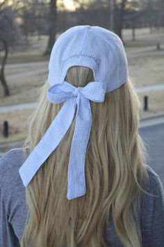 the back of a baseball cap with a bow! :D