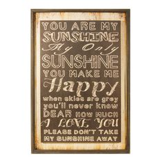 Hang this uplifting typographic decor in the den as a heartwarming touch, or let it anchor a gallery wall of favorite family photos. ...