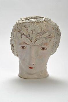 'Flora' (2013) by British artist Claire Loder. Ceramic. via the artist's site