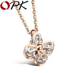 OPK Flower Pendant Necklace For Women Inlaid Clear Cubic Ziconia Rose Gold Color  Elegant Jewelry Ladies's Gift, GX1112     Tag a friend who would love this!     FREE Shipping Worldwide     Get it here ---> http://jewelry-steals.com/products/opk-flower-pendant-necklace-for-women-inlaid-clear-cubic-ziconia-rose-gold-color-elegant-jewelry-ladiess-gift-gx1112/    #gold_earrings