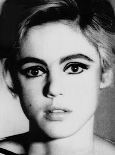 Long eyelashes Girl Golden age Vintage Summer Make up Hair Beauty Art Fashion Beach Waves Sunset Hipster Old fashion