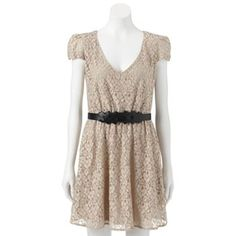 HeartSoul Lace Skater Dress - Juniors