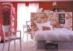 Einrichten mit Rot: Rot im Schlafzimmer ist gewagt