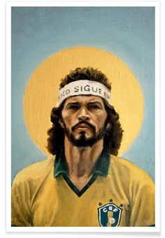 Football Icon - Sócrates 1986 of David Diehl now on JUNIQE!