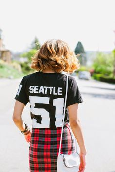 Team Seattle T-Shirt styled by Seattle Fashion Blogger, Chanel Robinson  Available here: http://www.shillingfordco.com/products-page/tshirts/team-seattle-t-shirt-black/