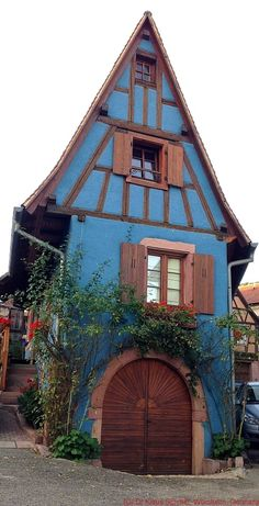 Typical house in St. Hippolyte, France