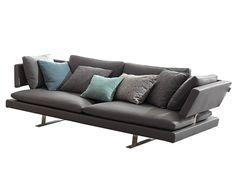 BORDERLINE Leather sofa by MisuraEmme design Mauro Lipparini