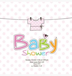 Baby Arrival Or Shower Card  With Photo Frame Vector   By