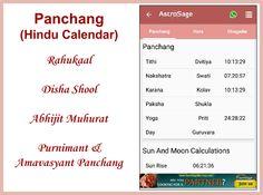 Disha Shool, Abhijit Muhurta and various other Hindu Calendar related calculations by AstroSage. Hindu Calendar, Me App, Calculator, Google Play, Horoscope, Astrology, Horoscopes