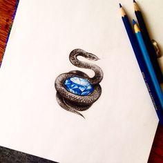 Brilliantsnake #jdtattoostudio #tattoo #змея #snake #бриллиант #brilliant #diamond #эскиз #акварель #watercolor #aquarelle #sketch #jd #тату #татуировка