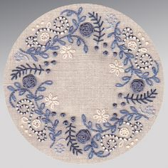 hand embroidery in blue. I want to embellish my blue and white hexie quilt like . hand embroidery in blue. I want to embellish my blue and white hexie quilt like . Crewel Embroidery Kits, Embroidery Needles, Hand Embroidery Patterns, Ribbon Embroidery, Cross Stitch Embroidery, Handkerchief Embroidery, Embroidery Alphabet, Embroidery Shop, Simple Embroidery