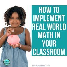 Learn how to implement real world math in your elementary classroom from this blog post. Read world math problems, situations, activities, and learning experience make learning math fun and meaningful for students. Get tons of ideas now! #realworldmath #mathproblemsolving #elementarymath #pbl #projectbasedlearning