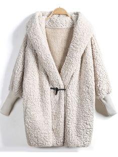 Fleece Jacket \ Womens winter fashion   Cozy jacket   Comfy coat   Shearling   Winter Style
