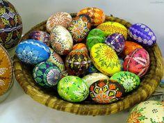 Pisanki | Pisanki, Koszyk, Wielkanocne