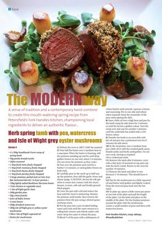 ~ The modern way ~ A sense of tradition and a contemporary twist create the perfect Easter recipe Spring Recipes, Easter Recipes, Spring Lambs, Easter Lamb, Kitchen Handles, Hampshire, Contemporary, Modern, Herbs