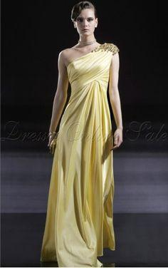 Daffodil Sheath Floor-length One Shoulder Dress - 4p179 - new-0811a-09