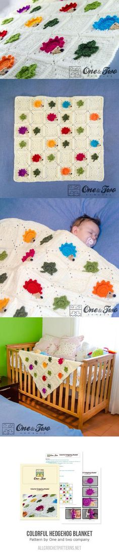 Colorful Hedgehog Blanket Crochet Pattern