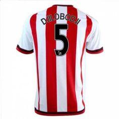 Sunderland AFC Home 16-17 Season Djilobodji #5 Red Soccer Jersey [I315]