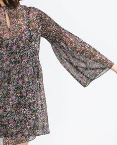 FLORAL PRINT DRESS | ZARA saved by #ShoppingIS