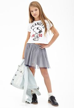 Varsity Snoopy Boxy Tee (Kids)   FOREVER21 girls - 2000084020