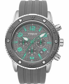 VOGUE Vivid Chronograph Grey Rubber Strap Μοντέλο: 202017201.6 Τιμή: 165€ http://www.oroloi.gr/product_info.php?products_id=31638