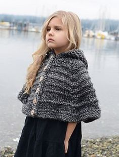 Ravelry: Bairn Cape pattern by Heidi May Knitted Cape Pattern, Knitting Patterns, Crochet Patterns, Knitting For Kids, Baby Knitting, Heidi May, Velvet Acorn, Make Your Own Clothes, Crochet Clothes