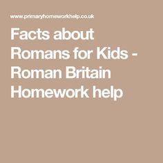 Facts about Romans for Kids - Roman Britain Homework help Facts For Kids, Fun Facts, Romans For Kids, Who Were The Romans, Romans Ks2, Roman Pictures, Facts About Australia, Australia For Kids, Roman Food