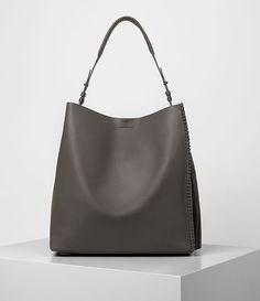 Womens Pearl Hobo Bag (Dark Grey) - product_image_alt_text_1