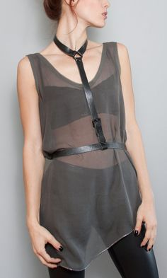 Dessa Tie Harness Belt by JAKIMAC  FREE SHIPPING от JAKIMACSHOP, $218.00