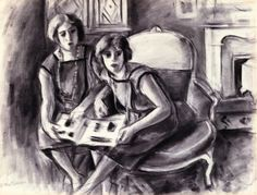 Two Sisters / Henri Matisse - circa 1922-1923
