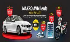 Makro AVM Çekiliş Kampanyası - Makro AVM BMW 316i Çekilişi http://www.kampanya-tv.com/2014/02/makro-avm-cekilis-kampanyasi-makro-avm-bmw-316i-cekilisi.html