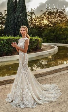 ea5b9b6100 VII Fall 2019 Bridal    bridal cap sleeves illusion bateau v neck full  embellishment glamorous elegant fit and flare mermaid wedding dress chapel  train