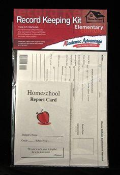 Homeschool Record Keeping Kit, Elementary, Use w.Saxon, ABeka, BJU, Apologia
