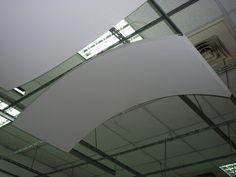 silk-metal acoustical panels