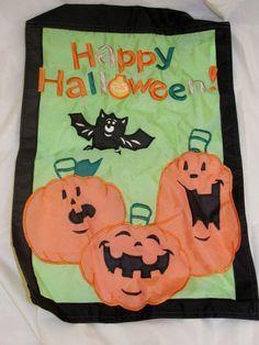 Halloween Jack-O-Lantern Pumpkin Outdoor Garden Flag Banner Autumn Fall Decor #Halloween