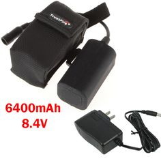 Sales 6400mAh 8.4V TrustFire Rechargeable Battery Pack & Battery Charger for Headlamp/Bicycle Light Consist with 4 Batteries