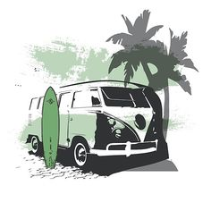 Cool Kombi surf design