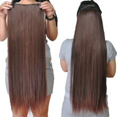 Full Head Or Highlight One Piece Clip In Remy Human Hair Extensions Hair pieces #Tengda #HairExtension