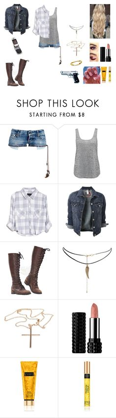 """Salt and Burn #22"" by jazmine-bowman on Polyvore featuring Dsquared2, Forever New, Rails, ASOS, Boohoo, Kat Von D, Victoria's Secret, Beretta and Motorola"