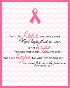 Romans Printable Breast Cancer Awareness by AmplifyDesign Breast Cancer Quotes, Breast Cancer Survivor, Breast Cancer Awareness, Cancer Survivor Quotes, Bible Verse Signs, Verses, Cancer Fighting Foods, Breast Cancer Support, Cancer Facts