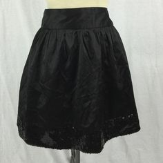 Black Skirt Studio Y. 53% cotton 45% polyester 2% spandex size XL and wash sequence trim no odors no stains no visible defects Studio Y Skirts