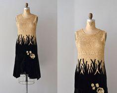Wish Upon dress • velvet and lace 20s dress • vintage 1920s dress