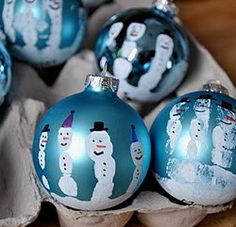 Snowman handprint ornament...