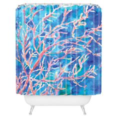 I pinned this Rosie Brown Coral Fan Shower Curtain from the Nautical Bath event at Joss and Main!