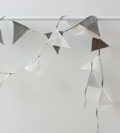 Fog Linen Bunting for my Christmas tree. You can never have enough bunting Paper Bunting, Bunting Banner, Banners, Baby Boy Decorations, Kids Decor, Scandinavian Kids Rooms, Little Cherubs, Fog Linen, Wedding Bunting