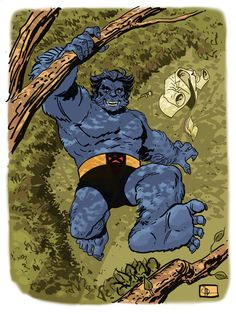 """""""Beast by docshaner. I've liked most of the incarnations of Hank, but XMFC definitely made me a real fan of him. He does look more impressive in the comics though."""" There's a happy face. Marvel Comic Books, Comic Books Art, Comic Art, Marvel Comics, Marvel Xmen, Univers Marvel, Comic Book Artists, Comic Book Characters, Gi Joe"""