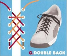 d4f7ea381440 15 Cool Ways To Tie Shoelaces 15 Cool Ways To Tie Your Cyclone Health  Shoelaces  Double Back