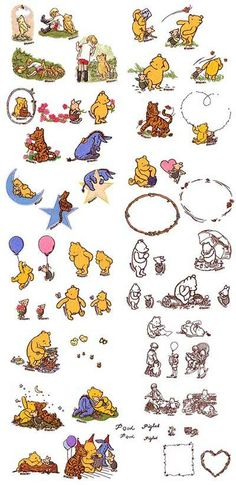 INSTANT DOWNLOAD 53 Designs - Classic Pooh Disney Set Machine Embroidery Designs on Etsy, $6.99