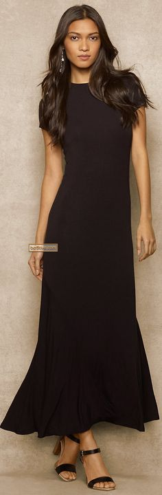 Ralph Lauren Blue Label Jersey Maxi Dress